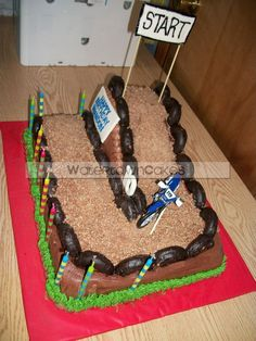 Motocross Cake Ideas | motocross cake pool party cake sitting frog cake with lily