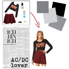 """AC/DC Fashion tip"" by blan-xoxo on Polyvore"