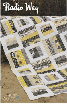 Radio Way Quilt Pattern - Jaybird Quilts - Jelly Roll Friendly Quilt Pattern, Four Quilt Sizes Included, Modern Quilt Pattern Strip Quilt Patterns, Jelly Roll Quilt Patterns, Modern Quilt Patterns, Strip Quilts, Easy Quilts, Quilting Patterns, Quilting Ideas, Amish Quilts, Tatting Patterns