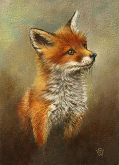 fox in Paintings from Dealers and Resellers Fox Pictures, Irish Landscape, Butterfly Painting, Fox Art, Fox Design, Cute Little Animals, Animal Paintings, Animals Beautiful, Watercolor Art
