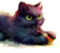 Image about art in gatos 😻😺 by Gabi Oliva on We Heart It Image Chat, Cat Drawing, Cat Love, Crazy Cats, Animal Drawings, Cute Wallpapers, Cat Art, Cats And Kittens, Cute Cats