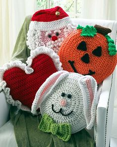 Holiday Pillows Crochet Pattern Set 1 -Crochet on The Double