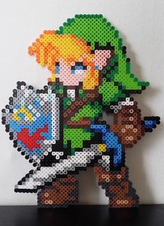 LINK The Legend Of Zelda Perler Beads Sprite