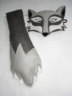 Children's Woodland Animal WOLF Felt Mask and Tail by magicalattic, $28.00