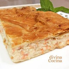 You searched for Hojaldre - Divina Cocina Quiches, Seafood Recipes, Mexican Food Recipes, Tapas, Kitchen Recipes, Cooking Recipes, Bread And Pastries, Fish Dishes, Food Network Recipes