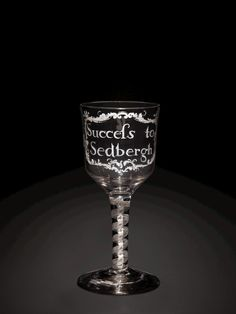 #Baroque #Glass: Sedbergh #Goblet by Mary and William Beilby, about 1760-1765   Corning Museum of Glass