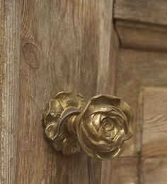 On the backdoor I have a rose doorknob. It is in honor of my mother and her garden.
