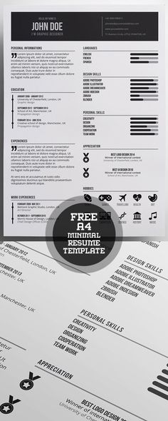 50 Free Resume Templates: Best Of 2018 - 38 Simple Resume Template, Resume Design Template, Creative Resume Templates, Cv Template, Templates Free, Resume Writing Tips, Resume Ideas, Resume References, Infographic Resume