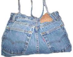 How to make a blue jean overnight bag in 30 minutes. No-sew pattern so easy kids can do it.