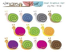 FREE Snail Clip Art! Dress up your spring materials!  :)