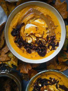 Chestnut & pumpkin velouté | Seasonal recipe for fall | Inthemoodforfood