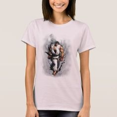 Shop Ryu Walking T-Shirt created by streetfighter. Video Game T Shirts, Ladies Dress Design, Wardrobe Staples, Fitness Models, Walking, T Shirts For Women, Female, Casual, Mens Tops