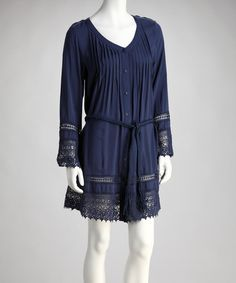 Take a look at this Blue Woven Shirt Dress by MONORENO by Mür on #zulily today!