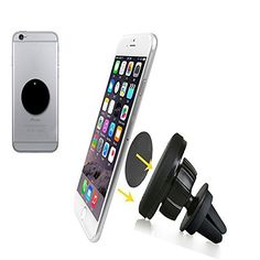 awesome Phone Holder for Car,Air Vent Magnetic Car Mount Holder, for Cell Phones and Mini Tablets,Magnetic Cell Phone Mount - Black