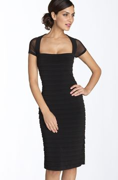 Maggy London Illusion Back Pleated Matte Jersey Dress (Regular & Petite) | Nordstrom