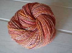 Handspun yarn Falkland wool and Rose fiber 100g/166m/2ply