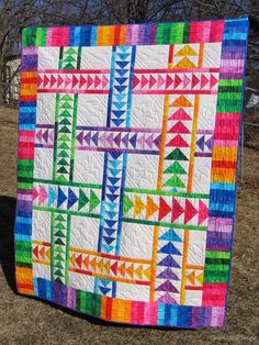 Wandering Geese quilt by Canuck Quilter. Spring 2014 Blogger's Quit Festival. Original design.