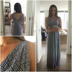 Love this dress. The color is great and the fit is so flattering. Love a good maxi dress.