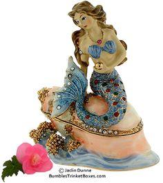 Trinket Box: Mermaid in Blue