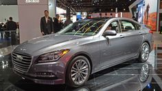 A photo gallery of the 2017 Genesis G80 at the Detroit Auto Show (11 photos)