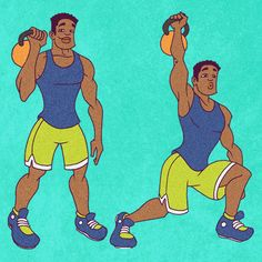 22 Kick-Ass Kettlebell Exercises Drop the dumbbells. Here are 22 kettlebell exercises that'll give the whole body a killer workout. Circuit Kettlebell, Kettlebell Workouts For Women, Killer Workouts, Fitness Diet, Fitness Goals, Fitness Motivation, Health Fitness, Fitness Workouts, Get Skinny