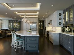 Contemporary kitchen featuring Decore doors