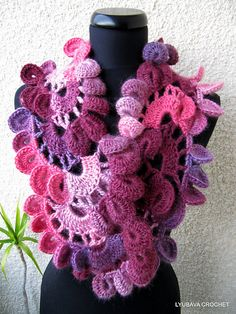 Free Crochet Unique Scarf Patterns : Scarves/Shawls/Shrugs/Capes on Pinterest Crochet Scarfs ...