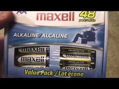 Maxell 723443 LR6 AA Cell 48 Pack Box Battery Review.  These are the best batteries that I've found anywhere!  They have a long shelf life, are affordable and last for a long time!  The best part is that this box contains 48 AA batteries!  If you use a lot of batteries like I do then you'll appreciate this excellent deal too!  I purchased these batteries from Amazon PRIME!  Please share this video!  Filmed with Panasonic HC-V100M camera.