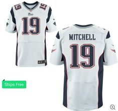 Nike New England Patriots White Malcolm Mitchell Custom Elite Jersey Mens  44  Nike  NewEnglandPatriots 42409456b