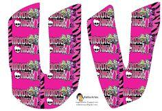 Alfabeto Monster High con fondo rosa. - Oh my Alfabetos!