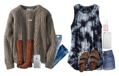 """""""Challenge // rtd"""" by jasietote ❤ liked on Polyvore featuring Just Cavalli, Uniqlo, Frye, Topshop, American Eagle Outfitters, Birkenstock, BaubleBar, Native Union, Essie and whatiwishicouldwear"""
