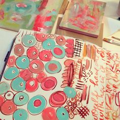 Sketchbook, art journal. playing with paints and inks by pam garrison, via Flickr