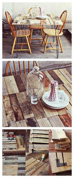 We love the stylish and rustic look of this small kitchen table made from repurposed wooden pallets. This table was made by Emma from A Beautiful Mess blog and she gives in her blog the steps to make it. She use for the…