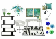 Check out this moodboard created on @olioboard: Home Office by juliacastle
