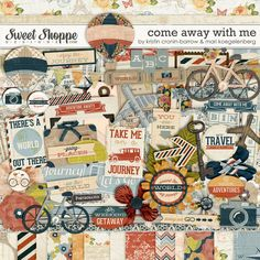 Digital Scrapbook Kit: Come away with me by Kristin Cronin-Barrow and Mari Koegelenberg