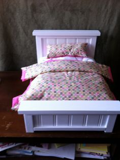 American Girl Doll 2 Piece Bedding Set for 18 by atticcollectables, $19.99