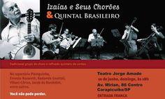 """Izaías e seus Chorões, criado na década de 70, é o mais antigo grupo de choro em atividade em São Paulo - um dos preferidos de Jacob do Bandolim. O grupo preserva o choro tradicional, de raiz, com repertório variado de autores consagrados, como Joaquim Callado, Waldyr Azevedo, Tom Jobim, Garoto, além de músicas próprias....<br /><a class=""""more-link"""" href=""""https://catracalivre.com.br/geral/agenda/barato/izaias-e-seus-choroes-quintal-brasileiro-em-carapicuiba/"""">Continue lendo »</a>"""
