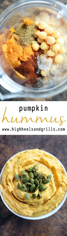 This Pumpkin Hummus is the best hummus I have ever had in my entire life. And that's not even an exaggeration.