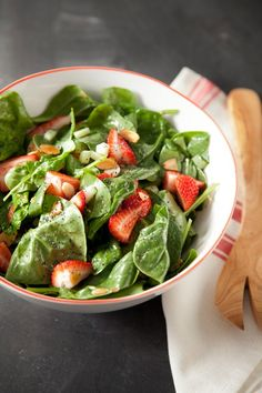 Spinach and Strawberry Salad #pauladeen