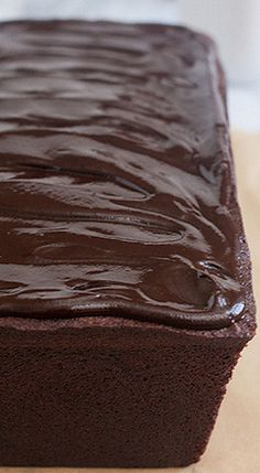 Glazed Chocolate Pound Cake
