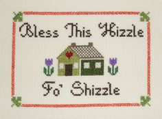 """Snoop Dogg """"Bless this House"""" counted cross stitch PATTERN"""