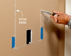 Use this project for built-in shelves to unlock hidden storage space between the studs in your walls. Install a single, open box of shelves, or install two boxes and add a set of glass doors. Recessed Shelves, Built In Shelves, Glass Shelves, Built Ins, Shelving, Small Shelves, Home Renovation, Home Remodeling, Bathroom Remodeling