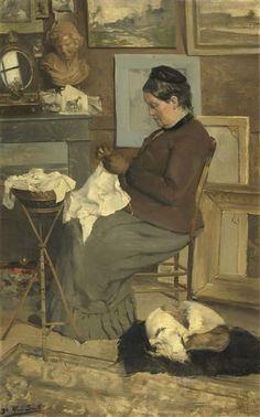Portrait de la mère de l'artiste  Description :  Salon des Tuileries, 1923. Mme Alfred Smith, née Jeanne Amazelie Broussard  Auteur :  Smith Alfred (1854-1936)