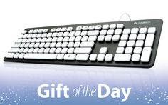$40-The Logitech Washable Keyboard K310 is the perfect keyboard for clumsy users who sometimes spill their coffee while working.