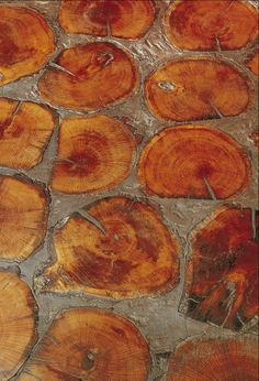 Cobbleblock Tree Rounds Flooring by Biger Juell - the 'down to earth' floors