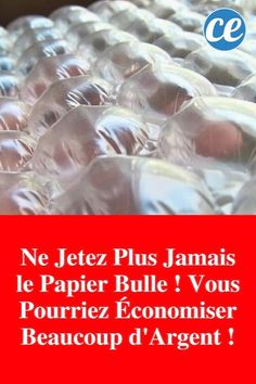 Ne Jetez Plus Jamais le Papier Bulle ! Extra Large Wall Clock, Bubble Paper, Homemade Cleaning Products, Plus Jamais, Gifts For Office, Rubber Flooring, Practical Gifts, Bubble Wrap, Small Room Bedroom