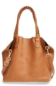 Street Level Slouchy Faux Leather Tote with Pouch available at #Nordstrom