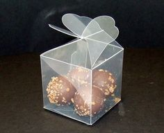 Luxury Transparent PVC Cube Chocolate Sweets Cup Cake Wedding Favour Gift Boxes