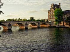 Sunset on the Seine. Pont Royal, Paris.