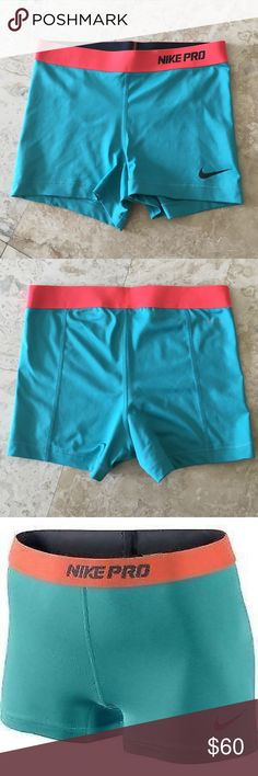 4453b42b487b6 Nike Pro Spandex Shorts Blue and Orange (Rare!) Worn twice! Great condition